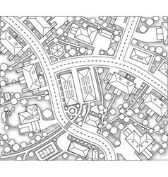 neighborhood cutout vector image vector image
