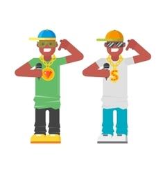 Rapper musician character vector image