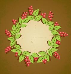 Retro plant berry vector image