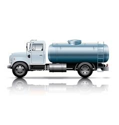 white tanker truck vector image vector image