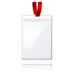 Blank realistic vertical badge holderwith vector image vector image