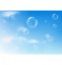 bubbles texture vector image