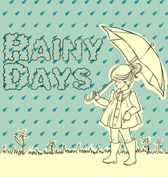 rainy days vector image vector image