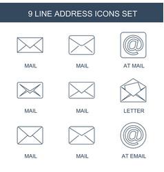 9 address icons vector