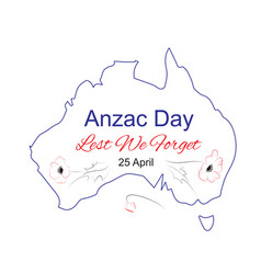 anzac day lest we forget vector image