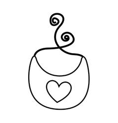 Baby bib isolated icon vector