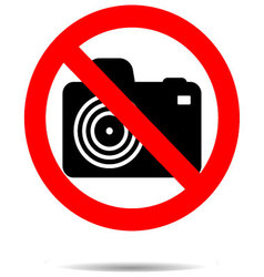 Ban photo icon label vector image