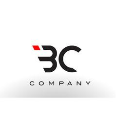 bc logo letter design vector image