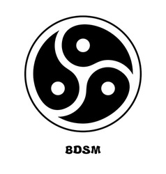 BDSM logo Sign for sadist masochist love Emblem vector