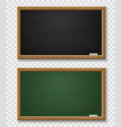 Blackboard realistic green and black chalkboard vector