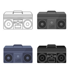 boombox icon in cartoon style isolated on white vector image vector image