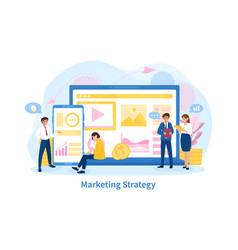 Business marketing strategy concept vector