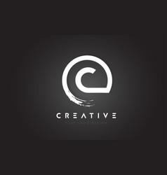 C circular letter logo with circle brush design vector
