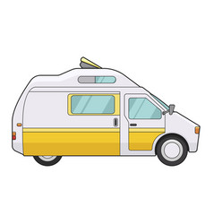 camping trailer icon summer transportation vector image