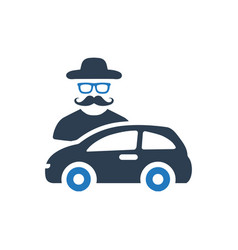 Car theft icon vector