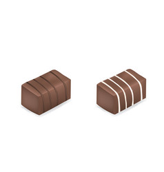 chocolate cubes vector image