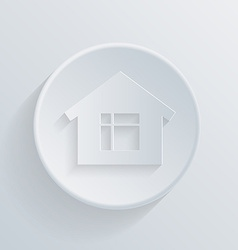 circle icon with a shadow home vector image