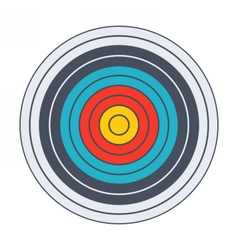 Classic archery target vector image vector image
