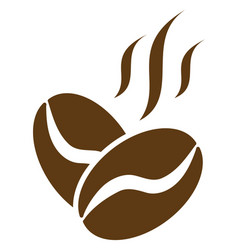 Coffee beans aroma flat icon symbol vector