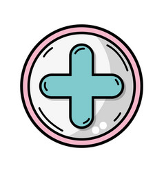 cross medicine symbol to help the people vector image