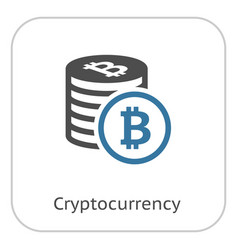 cryptocurrency flat icon vector image