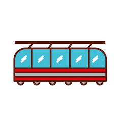 cute train cartoon vector image