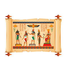 Egypt ancient papyrus scroll vector