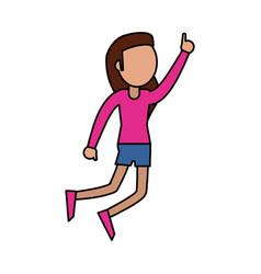 female dancer enjoy image vector image