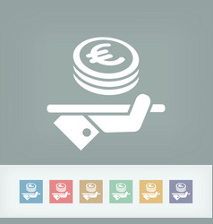 financial services - euro vector image