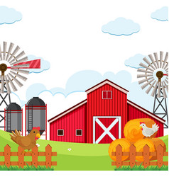 Flat rural farmland background vector