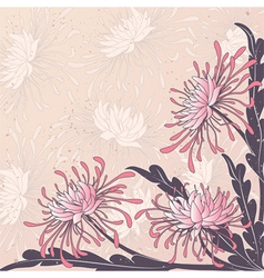 Floral buckground vector
