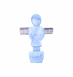 Foosball player Watercolor object on the white vector image