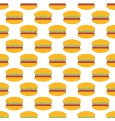Hamburger pattern seamless vector