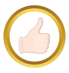 Hand with thumb up icon vector