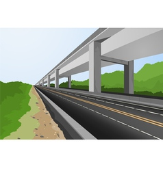 Highway to city vector image