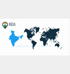 india location modern map for infographics all vector image
