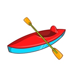 Kayak icon cartoon style vector