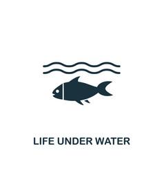 Life under water icon creative element design vector