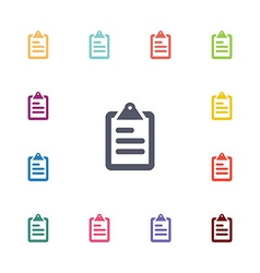 list flat icons set vector image