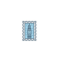 london stamp vector image
