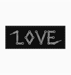love banner - stripe in eyelet vector image