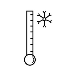 low temperature icon vector image