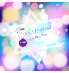 Magical background with colorful bokeh vector image