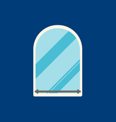 mirror flat icon on blue background vector image