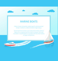 modern yacht marine nautical personal ship icon vector image