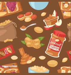 peanut groundnut butter or peanut paste on vector image