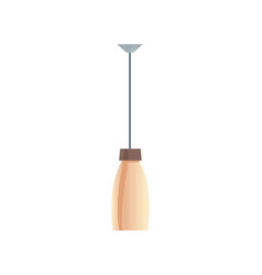 pendant lamp with beige shade lighting equipment vector image