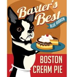 poster boston terrier dog vector image