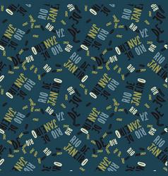 rio de janeiro creative pattern vector image