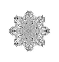 round black knitted lace napkin decorative vector image